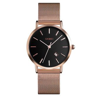 Skmei 1530 Top Brand Women Watch Fashion Watch Woman Sport Date Analog Quartz Watches Stainless Steel Casual female Clock Wristwatch