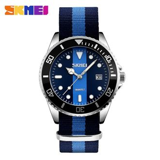 Skmei 9133 New Fashion Quartz Wristwatch Clock Casual Sports Watch Women Men Nylon Strap