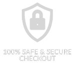 100% safe and secure checkout